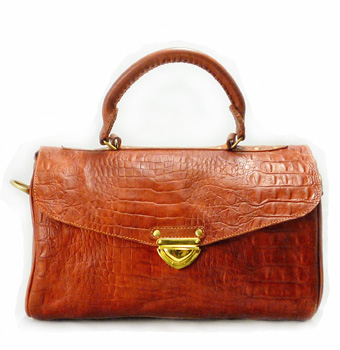 Dr Bag Croco Vintage Brown