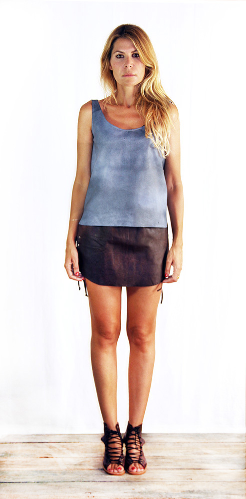Lois Top Washed Blue