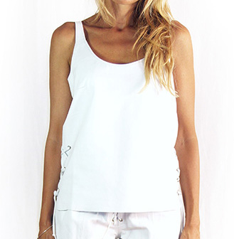Lois Laced Top White