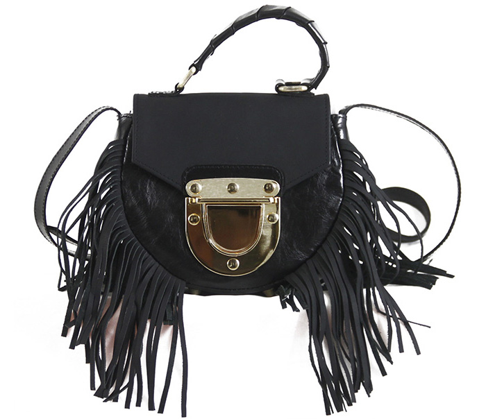 Adele Fringe Mini Black