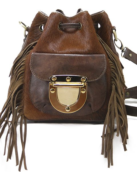 West Village Mini Fringe Calf Brown